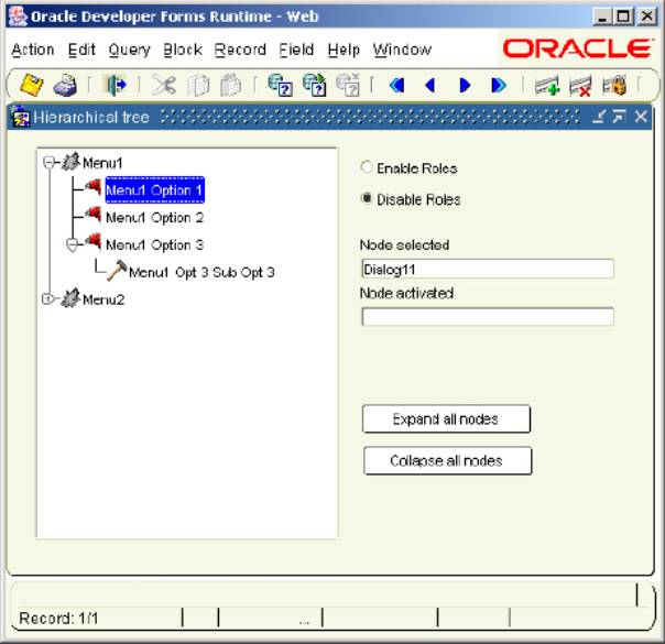create item button in application oracle