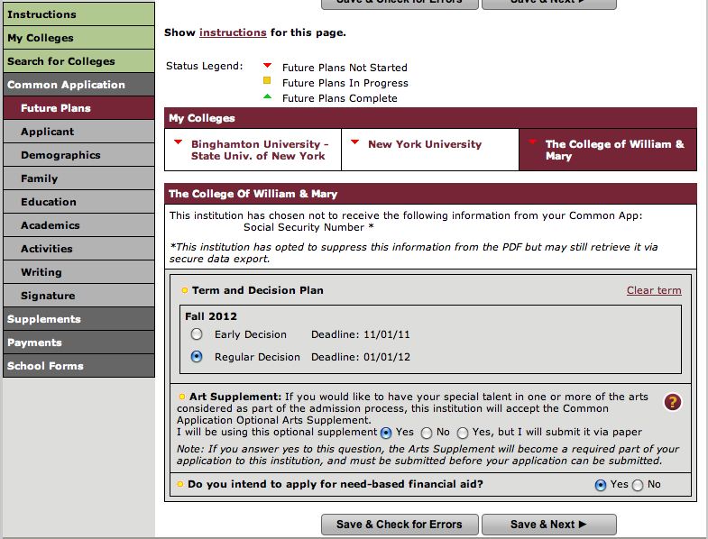 assumption college application fee waiver