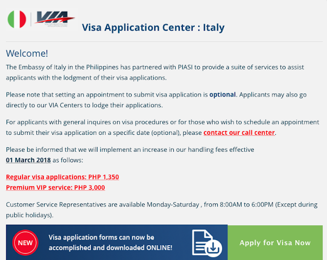italian embassy doha visa application