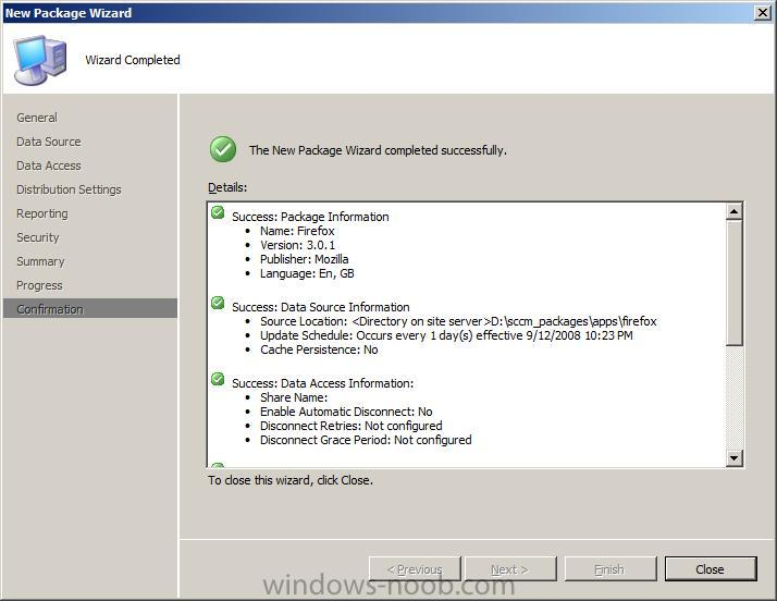 sccm security view packages and applications