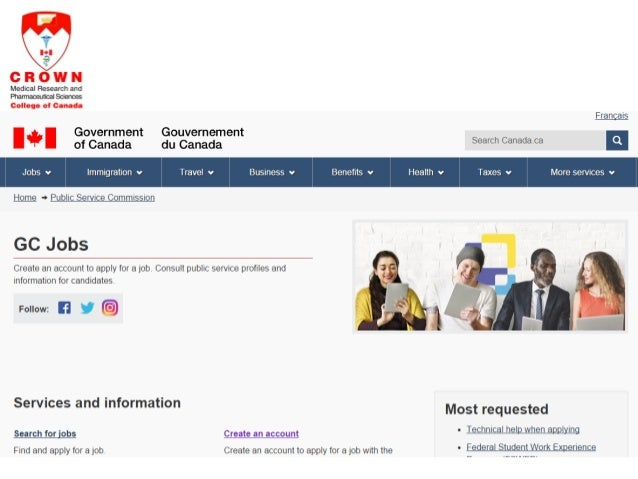 government of canada job application status