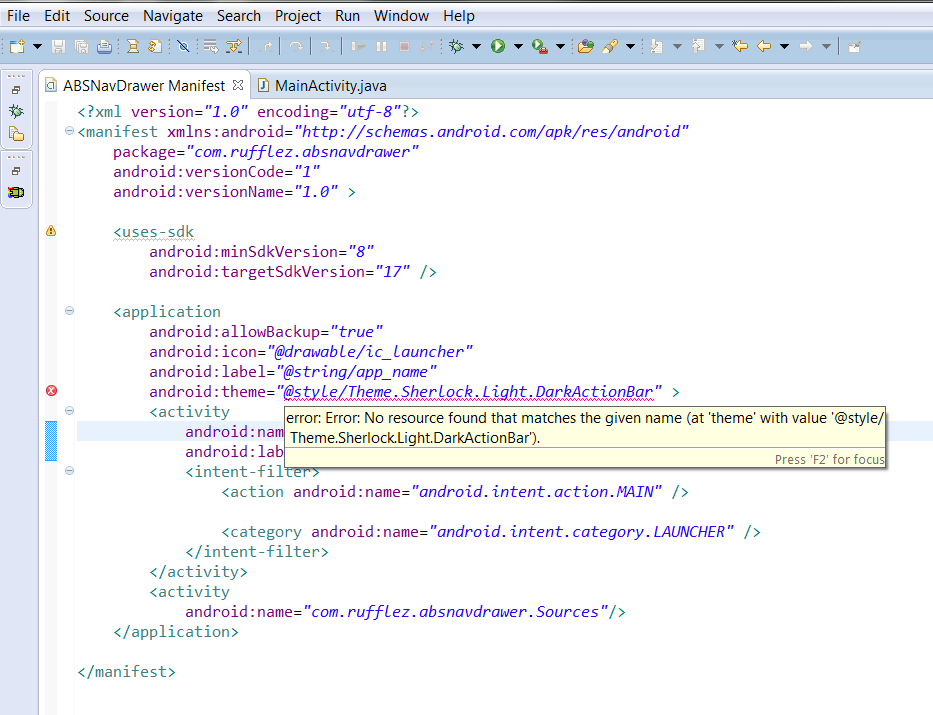 what is android application manifest file